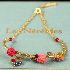 les nereides floral adjustable bracelet